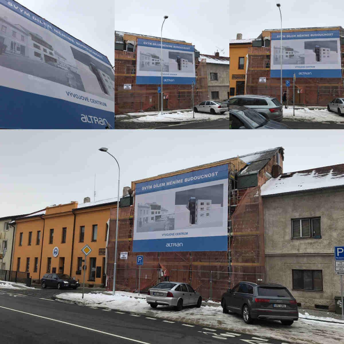 Potisk reklamních placher, banner, mesh, nadměrné velikosti
